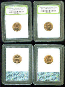 2010 P  & 2010 D LINCOLN SHIELD CENT BU MS MATCHED SET