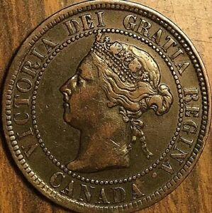 1901 CANADA LARGE CENT PENNY COIN   EXCELLENT EXAMPLE