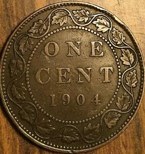 1904 CANADA LARGE CENT PENNY COIN