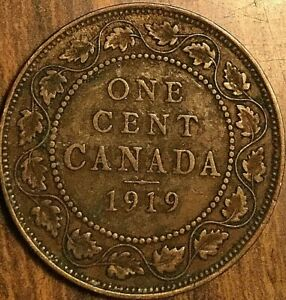1919 CANADA LARGE CENT PENNY COIN