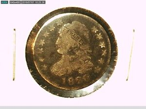 1820 CAPPED BUST DIME GOOD