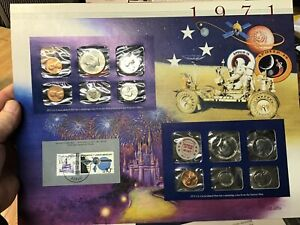 1971 US MINT SET 11 COIN SET  P & D WITH HISTORY PRESENTATION CARD US STAMP