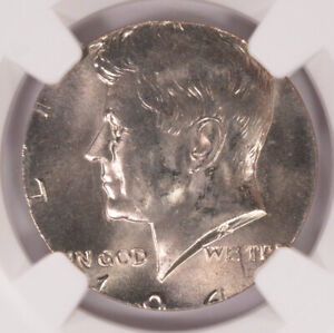 Click now to see the BUY IT NOW Price! NGC 50C 1964 KENNEDY HALF TRANSITIONAL ON CLAD QUARTER PLANCHET MS64