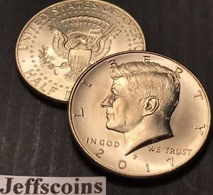 2017 P&D KENNEDY HALF DOLLARS KENEDY PD MINT ROLL CLAD 50 2 UNCIRCULATED COINS