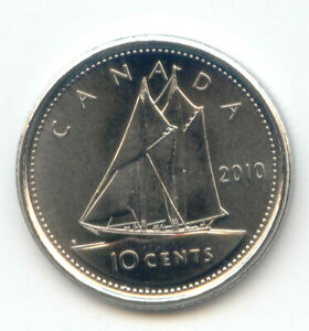 CANADA 2010 DIME CANADIAN 10 CENT PIECE 10C EXACT COIN