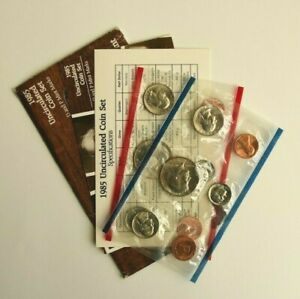 1985 UNCIRCULATED US MINT SET P & D MARKS ORIGINAL GOVERNMENT PACKAGING 10 COINS