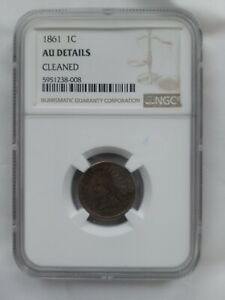 Click now to see the BUY IT NOW Price! 1861 INDIAN HEAD CENT NGC CERTIFIED & GRADED AU   CLEANED