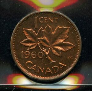 1960 CANADA ONE CENT   ICCS PL 65 RED CERTXUP439 PROOFLIKE