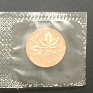 1965 CANADA 1 CENT SEALED IN MINT CELLOPHANE