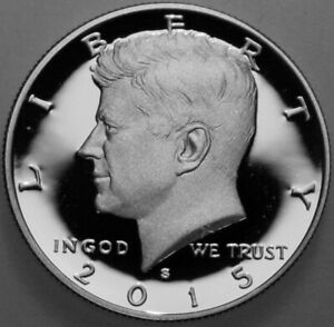 2015 S KENNEDY HALF DOLLAR 90  SILVER PROOF DEEP CAMEO NICE NO PROBLEM COIN