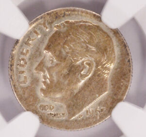 Click now to see the BUY IT NOW Price! NGC 10C 1965 ROOSEVELT DIME TRANSITIONAL OFF METAL ON SILVER DIME PLANCHET AU55