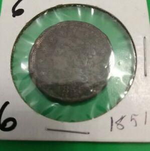 1851 US LARGE CENT CIRCULATED LOW GRADE READABLE DATE