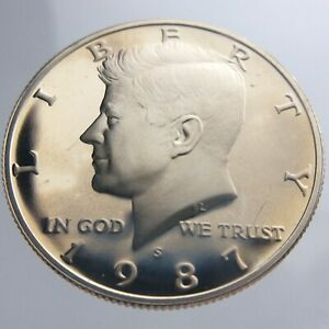 1987S PROOF UNITED STATES AMERICA 50 CENT HALF DOLLAR UNCIRCULATED COIN V671