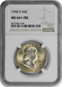 Click now to see the BUY IT NOW Price! 1948 D FRANKLIN SILVER HALF DOLLAR MS66 FBL NGC