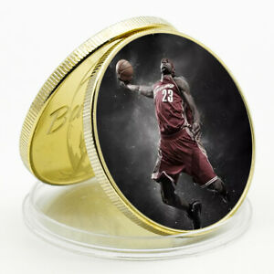CHALLENGE COIN LEBRON JAMES COMMEMORATIVE LUCKY GOLD PLATED METAL COIN