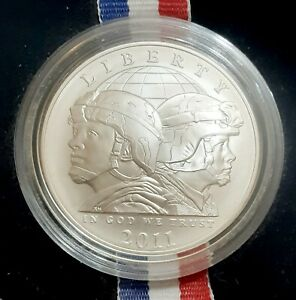 2011 S UNITED STATES ARMY COMMEMORATIVE COIN PROGRAM UNCIRCULATED SILVER DOLLAR