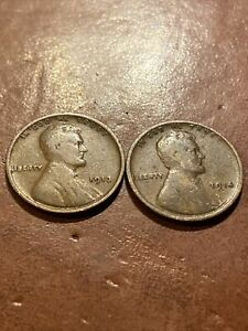 1913 P & 1914 P LINCOLN WHEAT PENNY SET CENTS IN GOOD CONDITION