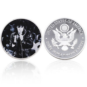 ELVIS PRESLEY SLIVER PLATED CHALLENGE COIN COLLECTION OF COMMEMORATIVE COINS