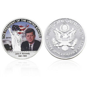 CHRISTMAS SOUVENIR GIFT KENNEDY 34TH US PRESIDENT COMMEMORATIVE COIN COLLECTION