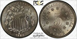 Click now to see the BUY IT NOW Price! 1883/2 SHIELD NICKEL OVERDATE PCGS MS 67 CAC FORSYTHE TOP POP 1/0