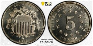 Click now to see the BUY IT NOW Price! 1874 SHIELD NICKEL PCGS PROOF 67 CAM CAC TOP POP 3/0 FORSYTHE COLLECTION