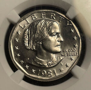 1981 S SUSAN B. ANTHONY $1 DOLLAR NGC MS 65 UNC BU COIN IN HIGH GRADE