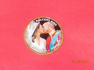 BRITISH LARGE PENNY WILLIAM & KATE   THE BALCONY KISS