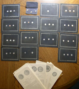 FRANKLIN MINT 56X STERLING SILVER MINIATURES OF  US & US COMMEMORATIVE COINS CZ5