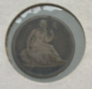 1837 SEATED LIBERTY SILVER HALF DIME   SMALL DATE VARIETY 1 NO STARS