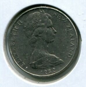 FOREIGN COIN   NEW ZEALAND   TEN 10 CENTS 1982