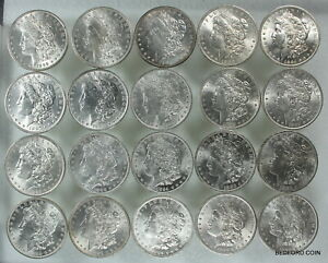 20 PC  ROLL OF UNCIRCULATED PRE 1921 MORGAN SILVER DOLLARS $1  1882 1904    2