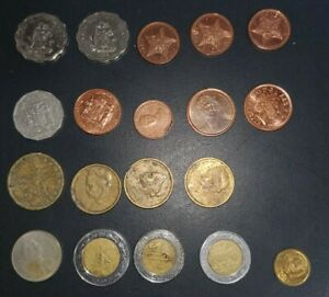 WORLD COIN LOT OF 19