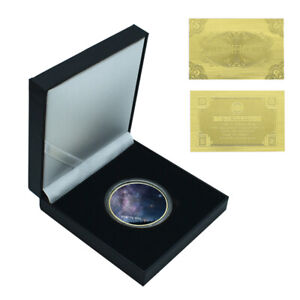 CHRISTMAS EVE GIFT STARRY SKY GOLD COIN COMMEMORATIVE METAL COIN COLLECTION