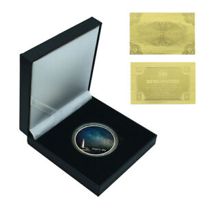 COLLECTION GIFT BOX STARRY SKY GOLD COIN COMMEMORATIVE METAL COIN CHRISTMAS