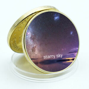 CHRISTMAS COLLECTION GIFTS GIFT STARRY SKY GOLD COIN COMMEMORATIVE METAL COIN