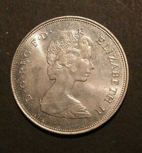 RJKSTAMPS WORLD COIN   1980  GREAT BRITAIN.  25 NEW PENCE  COPPER NICKEL