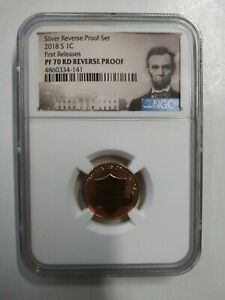 NGC PF 70 RD REVERSE PROOF 2018 S 1C LINCOLN FIRST RELEASES