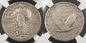 1923 S STANDING LIBERTY 25 CENTS  QUARTER  NGC VF 30 US89984