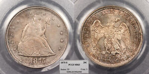 1875 S SEATED LIBERTY 20 CENTS PCGS MS 63 US88958