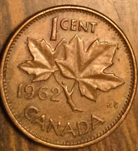 1962 CANADA SMALL CENT PENNY COIN