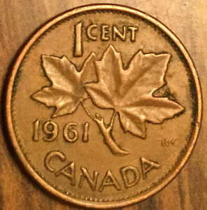 1961 CANADA SMALL CENT PENNY COIN