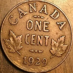 1929 CANADA SMALL CENT COIN