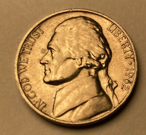 1962 JEFFERSON NICKEL   CIRCULATED   UNGRADED   ABSOLUTE AUCTION   N 12