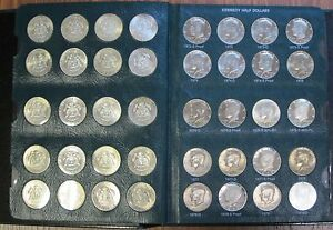 Click now to see the BUY IT NOW Price! 1964 2001 COMPLETE ALBUM KENNEDY HALF DOLLAR COIN SET P D S CLAD & SILVER PROOFS