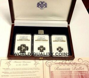 Click now to see the BUY IT NOW Price! RUSSIA 1993 SET 3 PLATINUM COINS BALLET BALLERINA NGC PF68 69 BOX COA