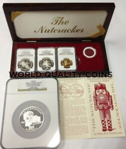 Click now to see the BUY IT NOW Price! RUSSIA 1993 GOLD SILVER SET COINS MEDALS BALLET NUTCRACKER NGC PF69 MINTAGE 125