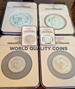Click now to see the BUY IT NOW Price! 2012 AUSTRALIA SILVER SET 6 COINS 0.5 TO 32OZ DRAGON ZODIAC PERTH NGC MS 68 70