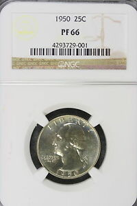 Click now to see the BUY IT NOW Price! 1950 P NGC PROOF 66 WASHINGTON QUARTER DOLLAR   E3202