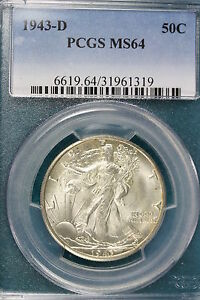 Click now to see the BUY IT NOW Price! 1943 D PCGS MS64 WALKING LIBERTY HALF DOLLAR   E1196