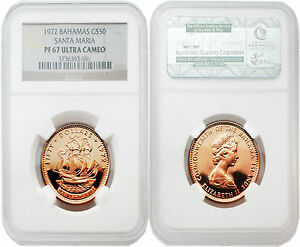 Click now to see the BUY IT NOW Price! BAHAMAS 1972 SANTA MARIA $50 GOLD NGC PF67 ULTRA CAMEO